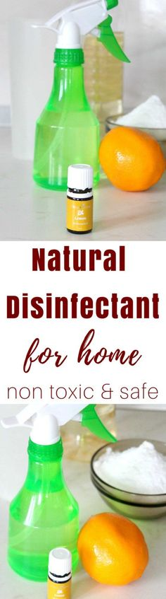 NATURAL DISINFECTANT FOR HOME - Make your own natural disinfectant for home with safe, non-toxic, inexpensive household products! Get your house as clean and disinfected as you would with store bought products!  #homemade #household #householdcleaner #cleaning #cleaninghacks #green #greenhouse #greenliving #cleaningtips #cleaningtricks