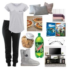 """""""Movie Night"""" by shababy0403 on Polyvore featuring Maison Labiche, UGG Australia, Furniture of America, OXO, Sur La Table and PBteen"""