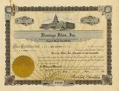 HWPH AG - Historische Wertpapiere - Flamingo Films, Inc. 15 June 1933, 5 Shares à US-$ 100, #21,