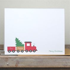 Christmas Cards . Holiday Cards . Personalized Christmas Cards - Christmas Tree Delivery by SweetBellaStationery on Etsy https://www.etsy.com/listing/85745008/christmas-cards-holiday-cards
