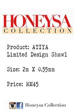 Honeysa Collection.  (Price Tag)