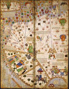 Partie orientale du monde Altas catalan, vers 1375