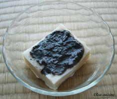 Pudding de lait de soja à l'arrow-root et crème de sésame noir