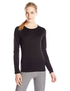 Cuddl Duds Women's Climatesmart Crew Neck Top ** Awesome outdoor product. Click the image : Camping clothes