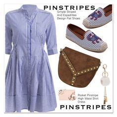 """""""pinstripes"""" by paculi ❤ liked on Polyvore featuring Too Faced Cosmetics and vintage"""