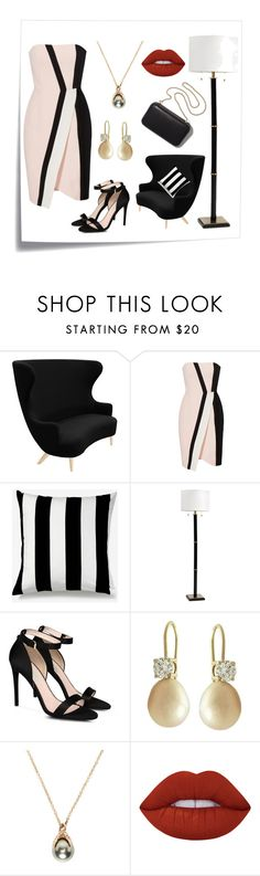 """Black-White"" by caeshana on Polyvore featuring beauty, Post-It, Tom Dixon, J. Mendel, Unison, Ballard Designs, STELLA McCARTNEY, Clare V., Pearls Before Swine and Lime Crime"