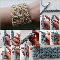 Broomstick Lace Bracelet Tutorial | DIY Cozy Home