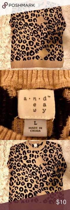 1cba7f42e1a7 A New Day sweater Size L Has small snag on back of sweater . The pics