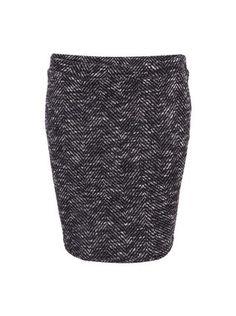 Vero Moda - Bílo-černá vzorovaná sukně  Saga - 1