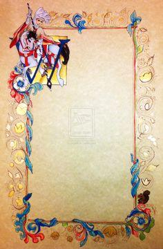 Illuminated Scroll with Horse by pspark.deviantart.com on @deviantART