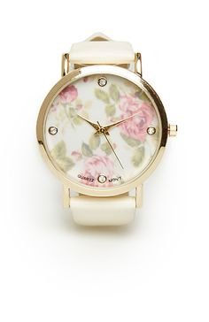 Floral Face Watch | DAILYLOOK