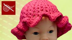 How to make a #Crochet #Baby #Hat with Ruffle Tutorial #CrochetGeek