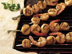 How To Make Barbecued Shrimp and Scallop Kabobs recipe