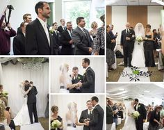 Black, white and copper wedding by Wren Photography.