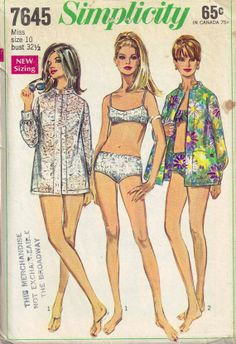 Vintage 60s Bikini and Beach Cover Up Shirt Bra. maybe a straighter sleeve