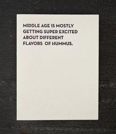hummus. letterpress card. 904 by shopsaplingpress on Etsy
