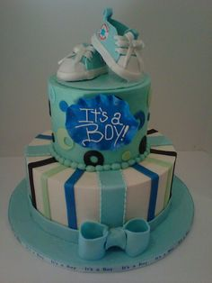 Converse baby shower cake by R.E.D Really Enticing Desserts