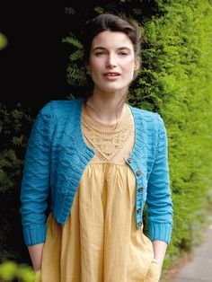Hildegard - Knit this ladies cropped cardigan from the Summerlite DK collection by Martin Storey. The design has a deep round neck and all over texture making it suitable for the knitter with some experience.