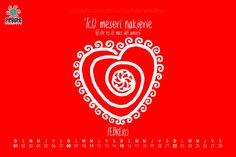 No puede faltar el mes del amor. #amor #febrero #calendario #wallpaper #ilustracion
