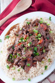 Saucy Weeknight Beef in the Pressure Cooker. asian beef, asian beef recipes, Beef, beef sauce, beef stew, beef stew recipe, mongolian beef, mongolian beef recipe, pressure cooker recipes, stew recipes
