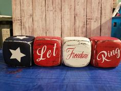 4th July Crafts, Fourth Of July Decor, 4th Of July Decorations, Patriotic Crafts, July 4th, Dollar Tree Decor, Dollar Tree Crafts, Dollar Tree Store, T Craft