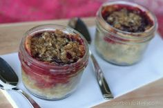 "Tutorial/Recipe.  I had no idea you could prepare a pie in a canning jar!  She promises you can take it from freezer to oven.   This would be a great way to use ""straggler"" fruit after canning."