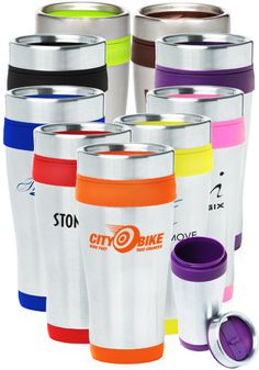Custom Printed Travel Mugs from DiscountPromos.com from $2.09 each!