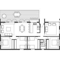 Barry02 Home Design Floor Plans, Prefabricated Houses, Modular Design, Modular Homes, House Plans, Shed, Cottage, House Design, Flooring