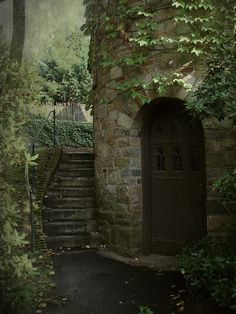 whimsical-nostalgia: bluepueblo: Ivy Tower Entrance, Worcester, Massachusetts photo via misaddie Nice to have something close pop up on my dash Nature Aesthetic, Abandoned Places, Belle Photo, Stairways, Faeries, Places To Go, Beautiful Places, Scenery, Around The Worlds