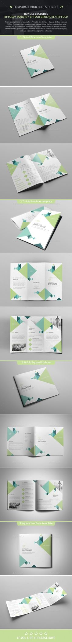 Brochure Bundle 08  — PSD Template #ad #corporate • Download ➝…                                                                                                                                                                                 More