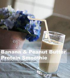 Fabulously Average, Banana & Peanut Butter Protein Smoothie
