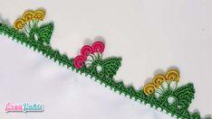 Yaprak Modeli Fıstıklı Tığ Oyası Yapılışı Türkçe Anlatımlı Videolu #elişi #örgü #moda
