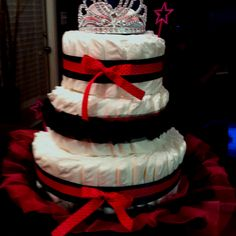 Diaper cakes are my FAVORITE shower gift. You can be so creative with them! This is one a friend and I made for a co-worker of mine.