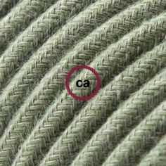 RC63 Round Fabric Cable covered by Grey-Green Cotton! Suitable for lamps! DIY projects http://www.creative-cables.gr/-/8681--rc63.html