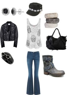 """Glam Punk Rock"" by blair-marie-wheatcraft on Polyvore"
