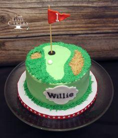 first birthday, hole-in-ONE cake, golf cake - Birthday Cake Vanilla Ideen Golf Themed Cakes, Golf Birthday Cakes, Golf Cakes, 9th Birthday, Birthday Ideas, Lilo Und Stitch, Butterscotch Cake, No Cook Desserts, Occasion Cakes
