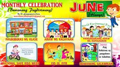 2017 Monthly Celebration with Monthly Motto June Classroom Walls, Classroom Bulletin Boards, Classroom Design, Classroom Decor, Monthly Celebration, Top Art Schools, Alphabet For Toddlers, School Border, School Safety