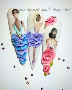 Best Nail Art Decorations To Choose Rose Nail Art, Rose Nails, 3d Nail Art, Flower Nails, Orange Nail Designs, 3d Nail Designs, Acrylic Nail Designs, 3d Acrylic Nails, 3d Nails