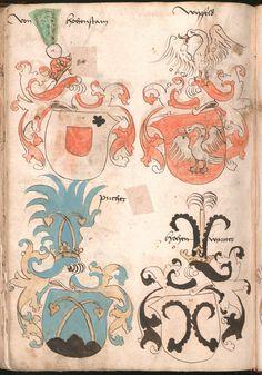 Wernigeroder (Schaffhausensches) Wappenbuch Süddeutschland, 4. Viertel 15. Jh. Cod.icon. 308 n  Folio 252v