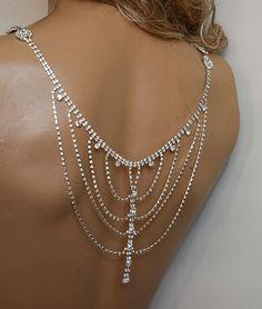 Wedding Rhinestone Jewelry Wedding Dress Shoulder by ADbrdal, $140.00