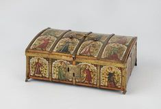 """Minnekästchen"", decorated small chest, Bayer, 2nd half of 14th century"