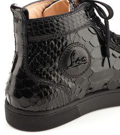 Christian Louboutin Louis Python Crystal Sneakers.