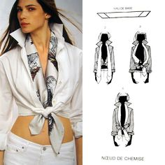 A little flavor to work attire. The Perfect Accessory, A Vintage Designer Scarf Diy Fashion, Fashion Brands, Fashion Outfits, Womens Fashion, Ways To Wear A Scarf, How To Wear Scarves, Mode Outfits, Casual Outfits, Diy Clothes