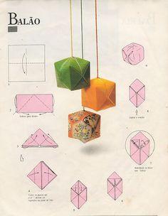 Origami Balloon, Instruções Origami, Paper Balloon, Origami And Kirigami, Origami Love, Origami Jewelry, Origami Butterfly, Paper Crafts Origami, Useful Origami