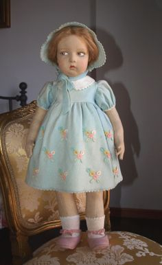 Old Italian Lenci Doll in Mint Condictions CA 1930