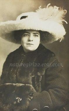 Edwardian Woman Portrait Lovely Lady in Hat Photo by naturegirl22