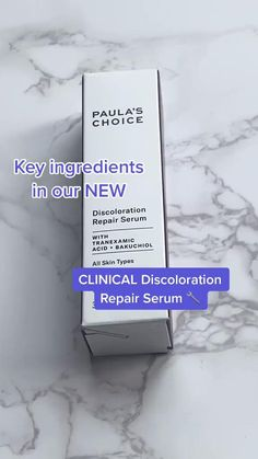 A serum that targets brown patches while helping prevent new discoloration from forming using tranexamic acid, bakuchiol and niacinamide. Shop CLINICAL Discoloration Repair Serum at Paula's Choice. Paula's Choice, Uneven Skin Tone, Key Ingredient, Face Serum, Makeup Routine, Clinic, Brown And Grey, Patches