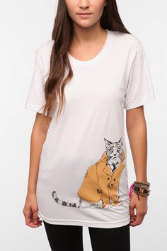 Isabel Sicat for RISD   UO Cat In A Jacket Tee  #UrbanOutfitters love the new line at urban. But just too expensive.