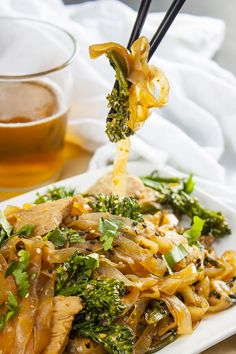 """Pad See Ew is a popular Thai dish of wide noodles cooked in a sweet, salty, smokey sauce. The most critical component is the """"wok taste"""" – that smokiness from slightly charred noodles. Everything about it makes it a perfect candidate for a shirataki noodle swap. Since shirataki noodles don't burn, you can let the...Read More »"""