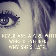 Winged liner.